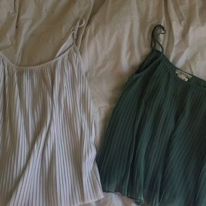 2 Pleated tank tops